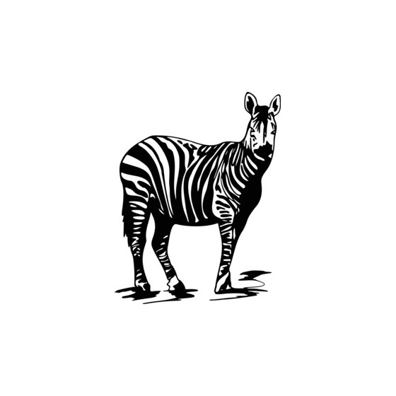 Zebra Vinyl Decal Sticker
