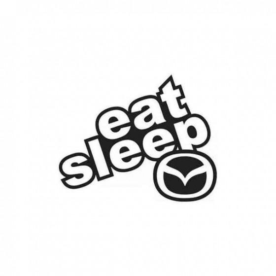 Eat Sleep Mazda Decal Sticker