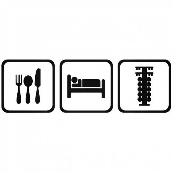 Eat Sleep Race Jdm Decal...