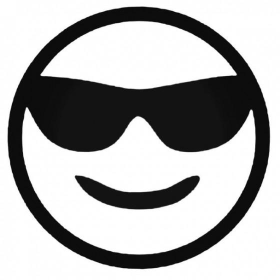 Emoji Cool Decal Sticker