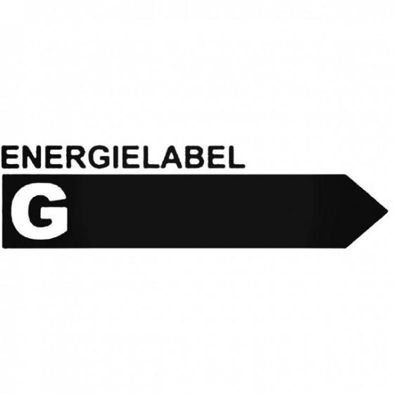 Energielabel G Decal Sticker