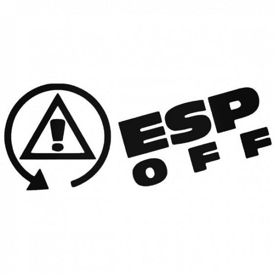 Esp Off Decal Sticker
