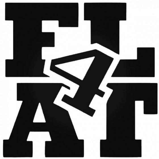 Flat 4 2 Decal Sticker