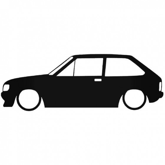 Ford Fiesta Mk2 Low Sticker