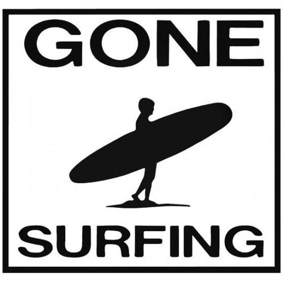 Gone Surfing Decal Sticker
