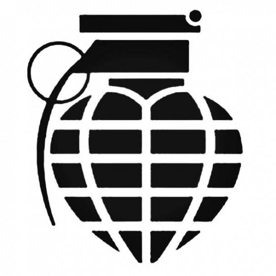 Granaat Hart 2 Decal Sticker