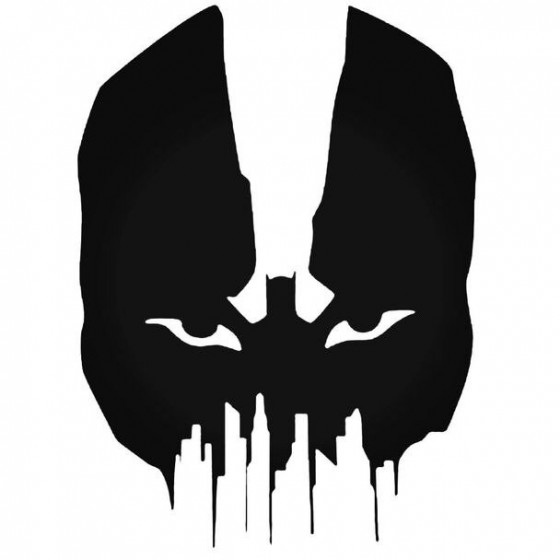 Bane Silhouette Decal Sticker