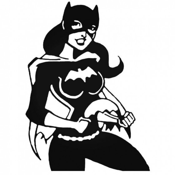 Batgirl Batman Vinyl Decal...