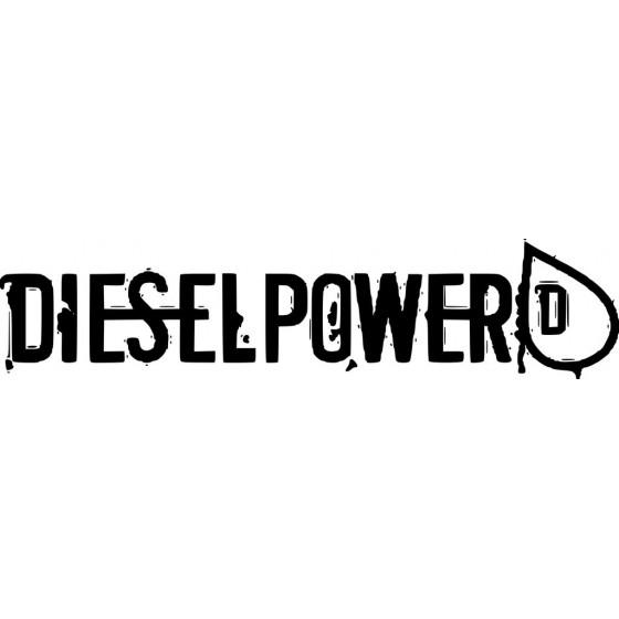 Diesel Power Sticker Vinyl...
