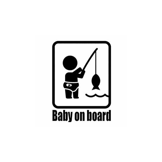 Baby On Board Fishing Vinyl...