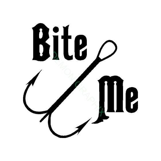 Bit Me Vinyl Decal Sticker