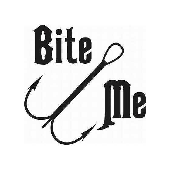 Bite Me Fishing Vinyl Decal...