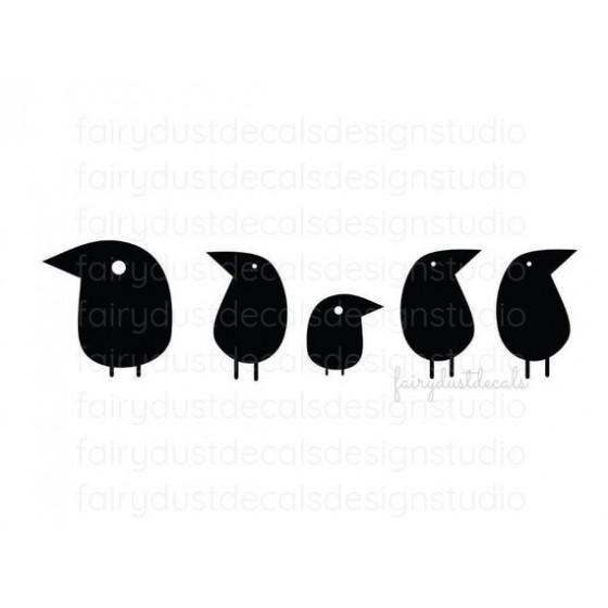 5 Bird Vinyl Decal Sticker