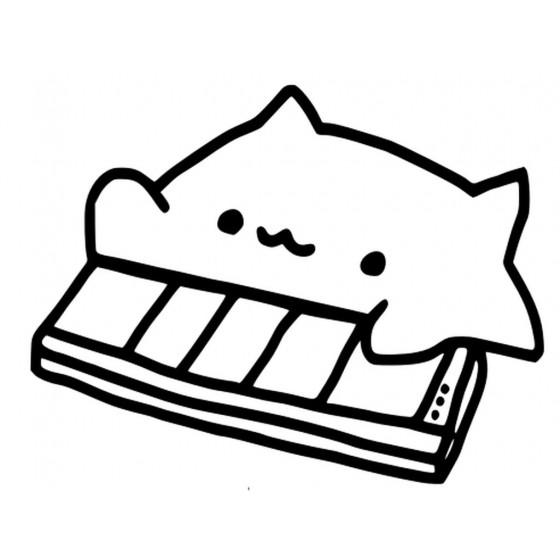 Bongo Cat Meme V2 Sticker...