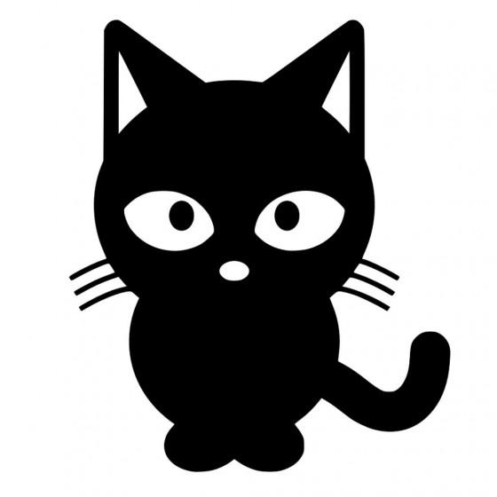 Cartoon Cat Sticker Vinyl...