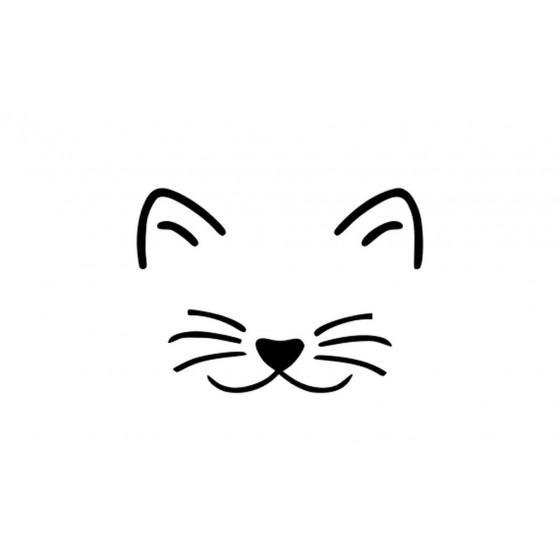 Cat Face Sticker Vinyl Decal
