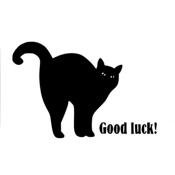 Cat Good Luck Sticker Vinyl...