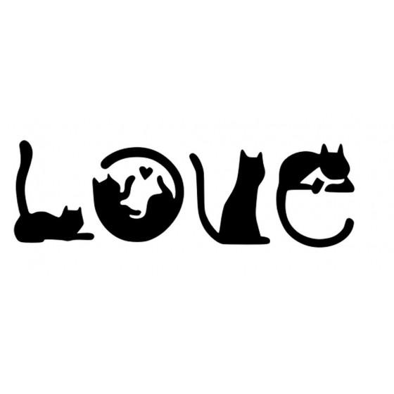 Cat Love Sticker Vinyl Decal