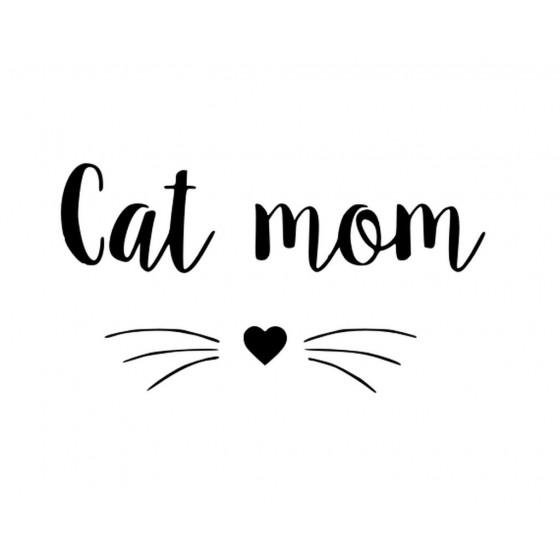 Cat Mom Sticker Vinyl Decal