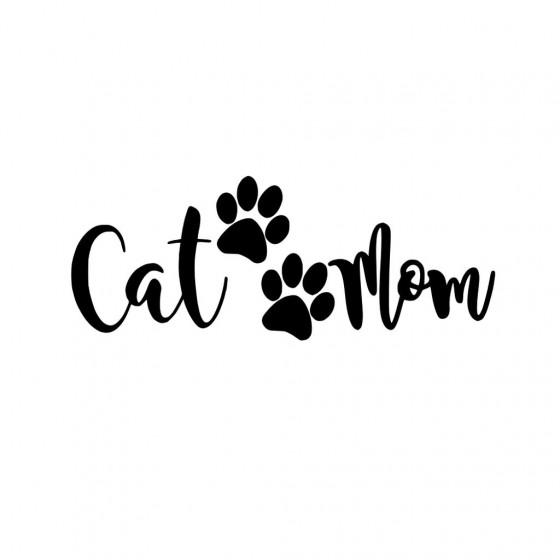 Cat Mom V3 Sticker Vinyl Decal