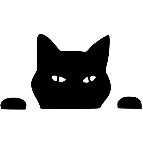 Cat Peeping Sticker Vinyl...