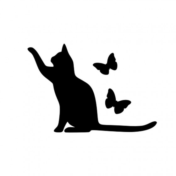 Cat With Butterflies...