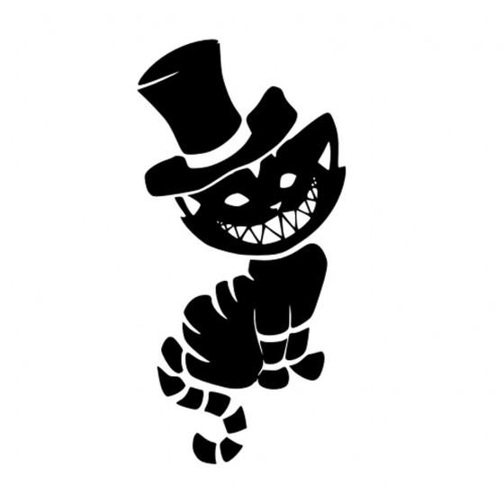 Cheshire Cat Sticker Vinyl...