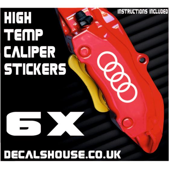 AUDI RINGS Caliper Stickers...