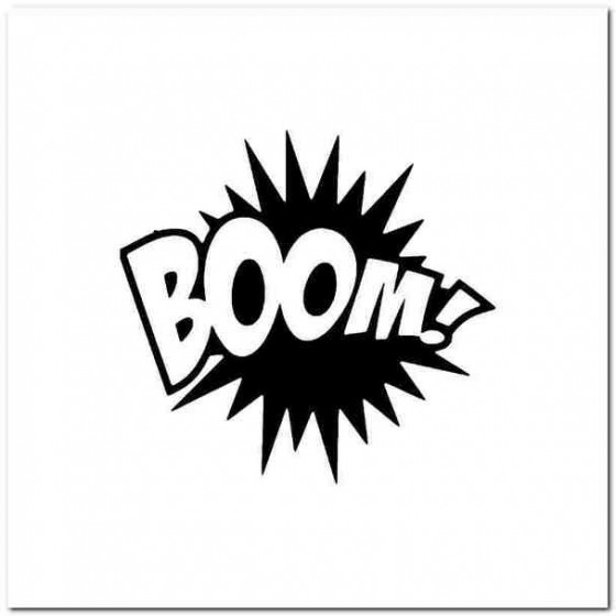 Boom Decal