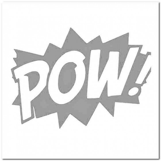 Comic Book Pow Decal