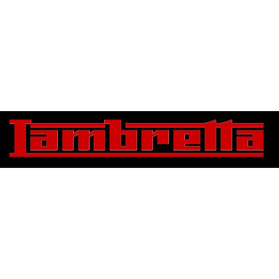 Lambretta Aftermarket Decal...