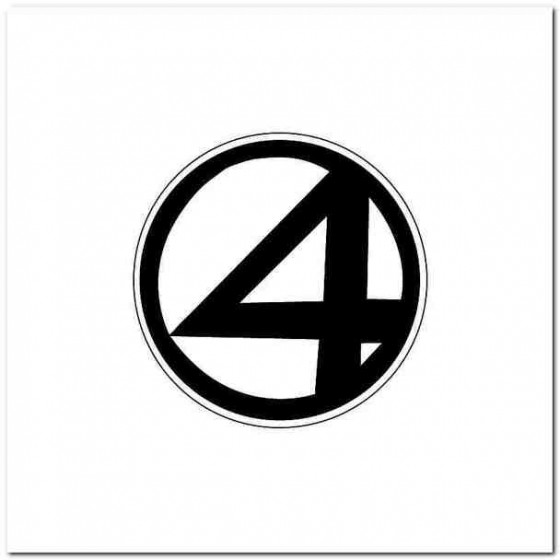 Fantastic Four Decal Sticker