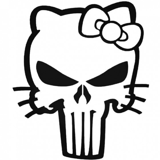 Hello Kitty Punisher Decal