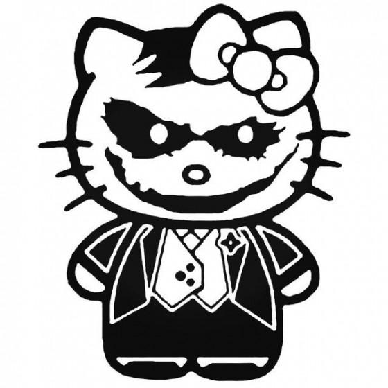 Hello Kitty The Joker Decal...