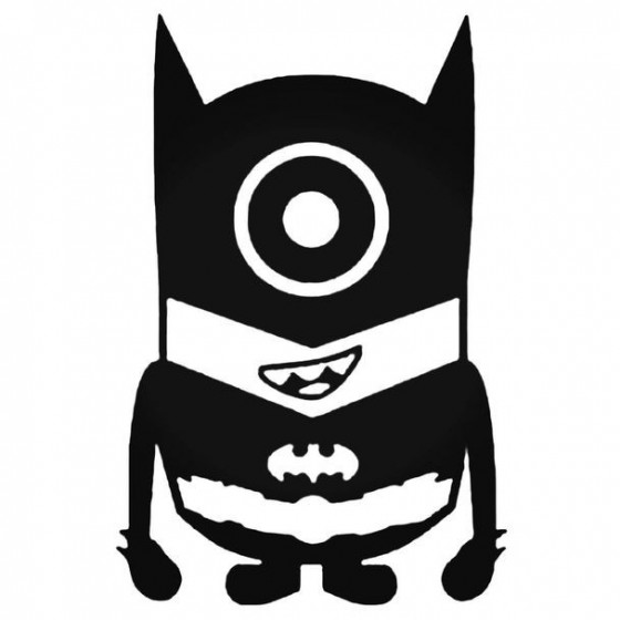 Minion Batman Vinyl Decal...