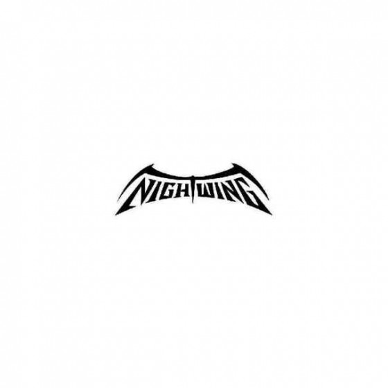 Nightwing Name Decal Sticker