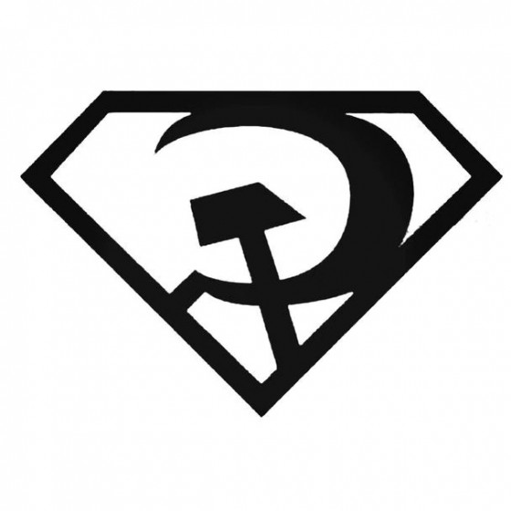 Superman Red Son Decal Sticker
