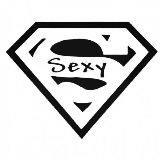Superman Sexy Decal Sticker