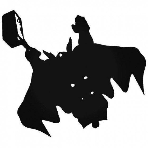 Thor Thor Silhouette Decal