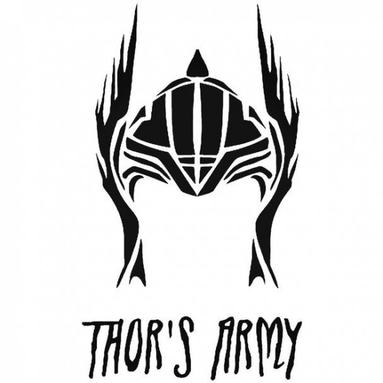 Thors Army   Thor Decal...
