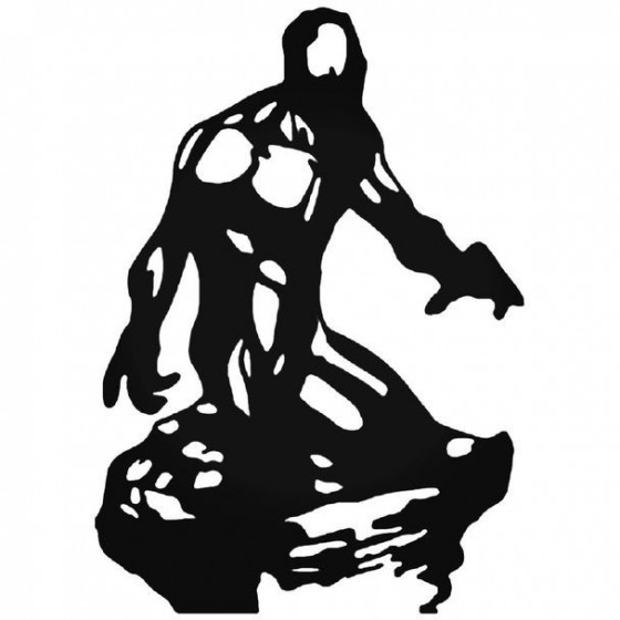 X Men Iceman Silhouette Decal