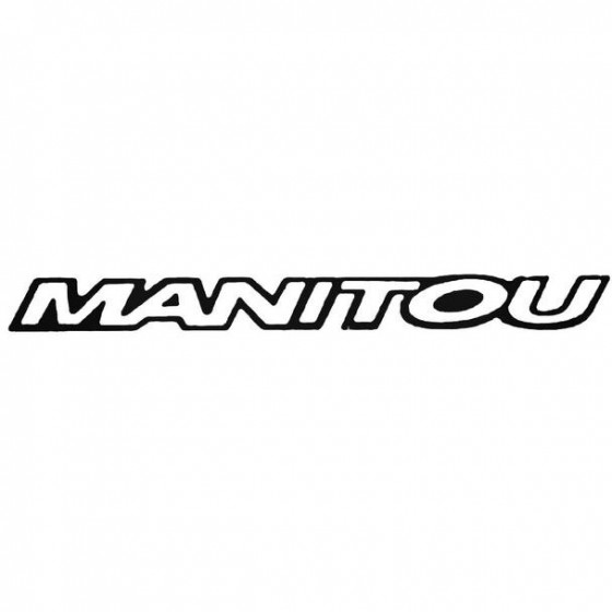 Manitou Text Bold Cycling