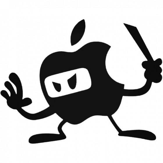 Apple Ninja Decal Sticker