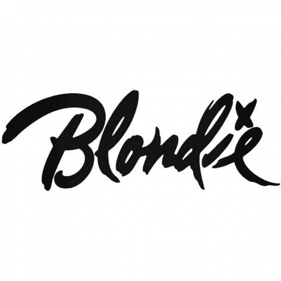 Blondie Vinyl Decal