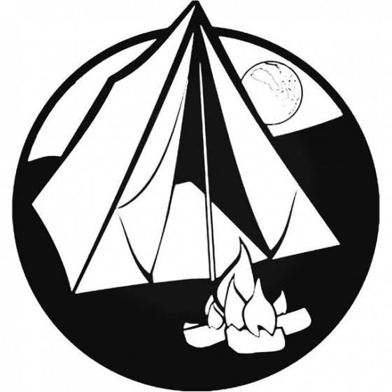 Camping Vinyl Decal