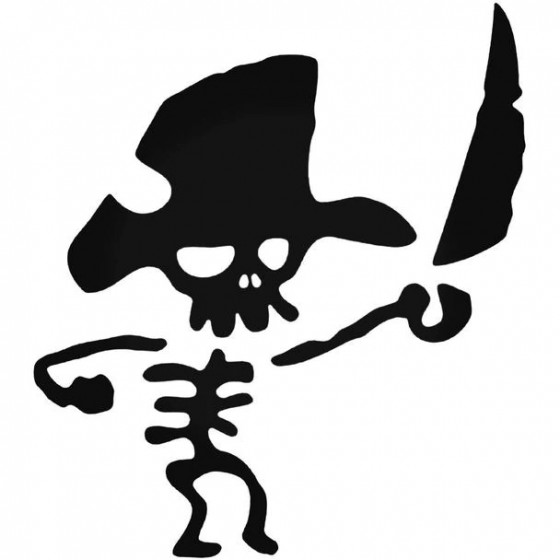 Cute Pirate Skull Decal...