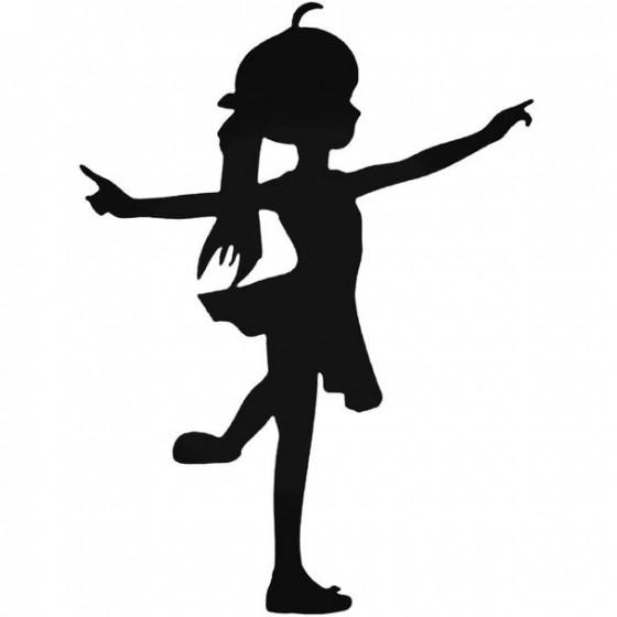 Dance Girl Decal Sticker