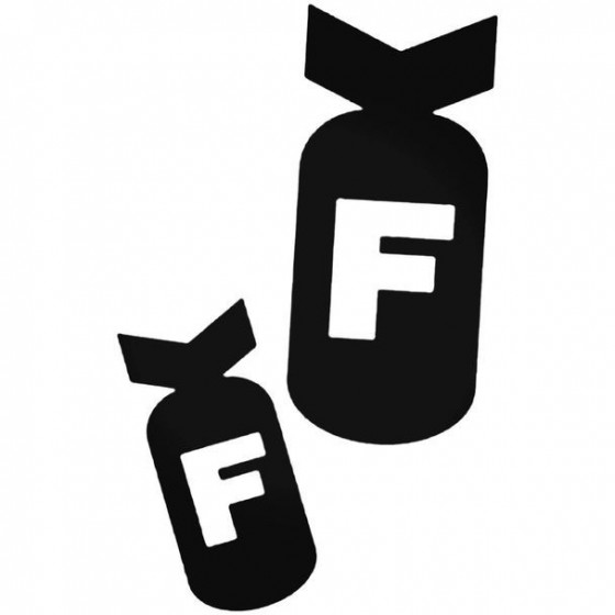 Dropping F Bombs Decal Sticker