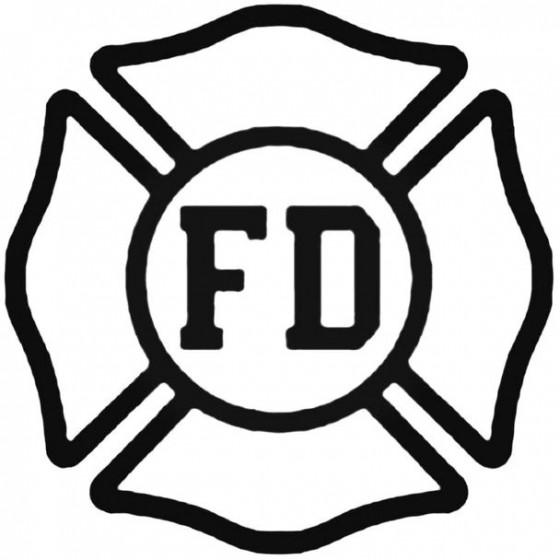 Fire Department Decal Sticker