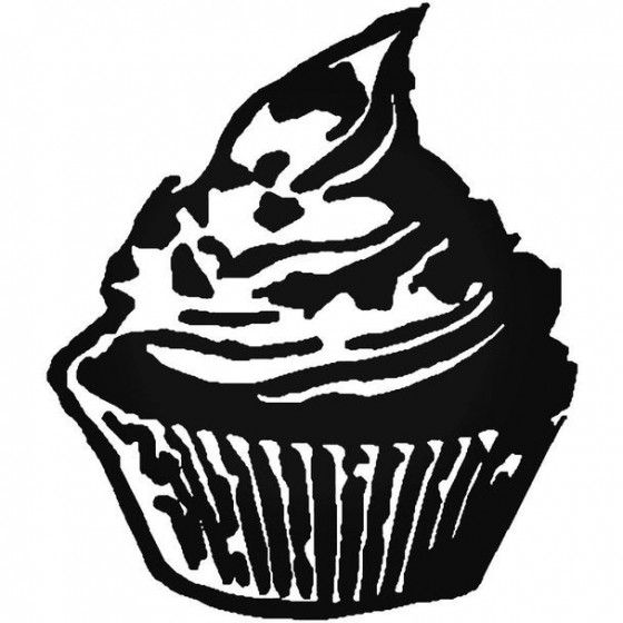 Food Cupcake Decal Sticker